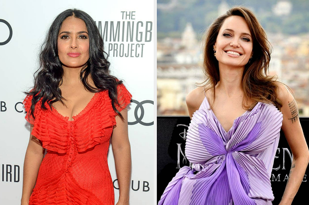 Salma Hayek Recalled A Hilarious Moment When Angelina Jolie Smashed Her Face Into A Birthday Cake