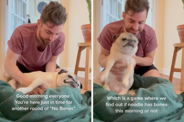 """Everyone Is Obsessed With This Pug And His """"No Bones"""" Because He Basically Started The New Groundhog Day"""