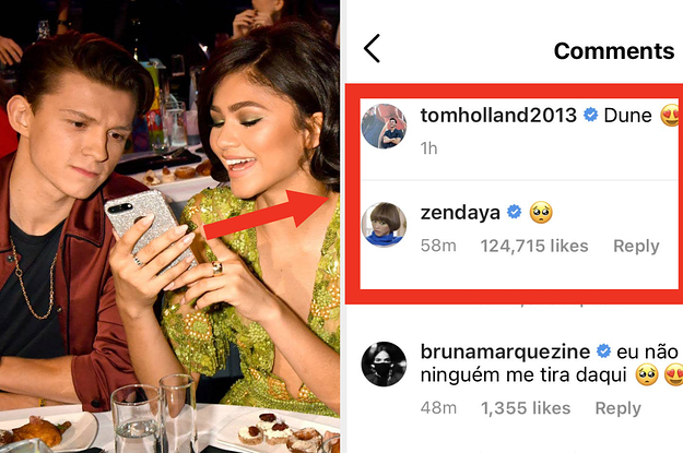 Tom Holland Just Posted Zendaya's London Red Carpet Look To His Instagram, And It's Just Very Precious And Personal To Me