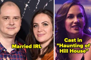 Mike Flanagan and Kate Siegel are married and Kate Siegel was cast in Haunting of Hill House