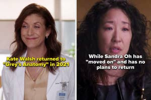 Kate Walsh and Sandra Oh in Grey's Anatomy