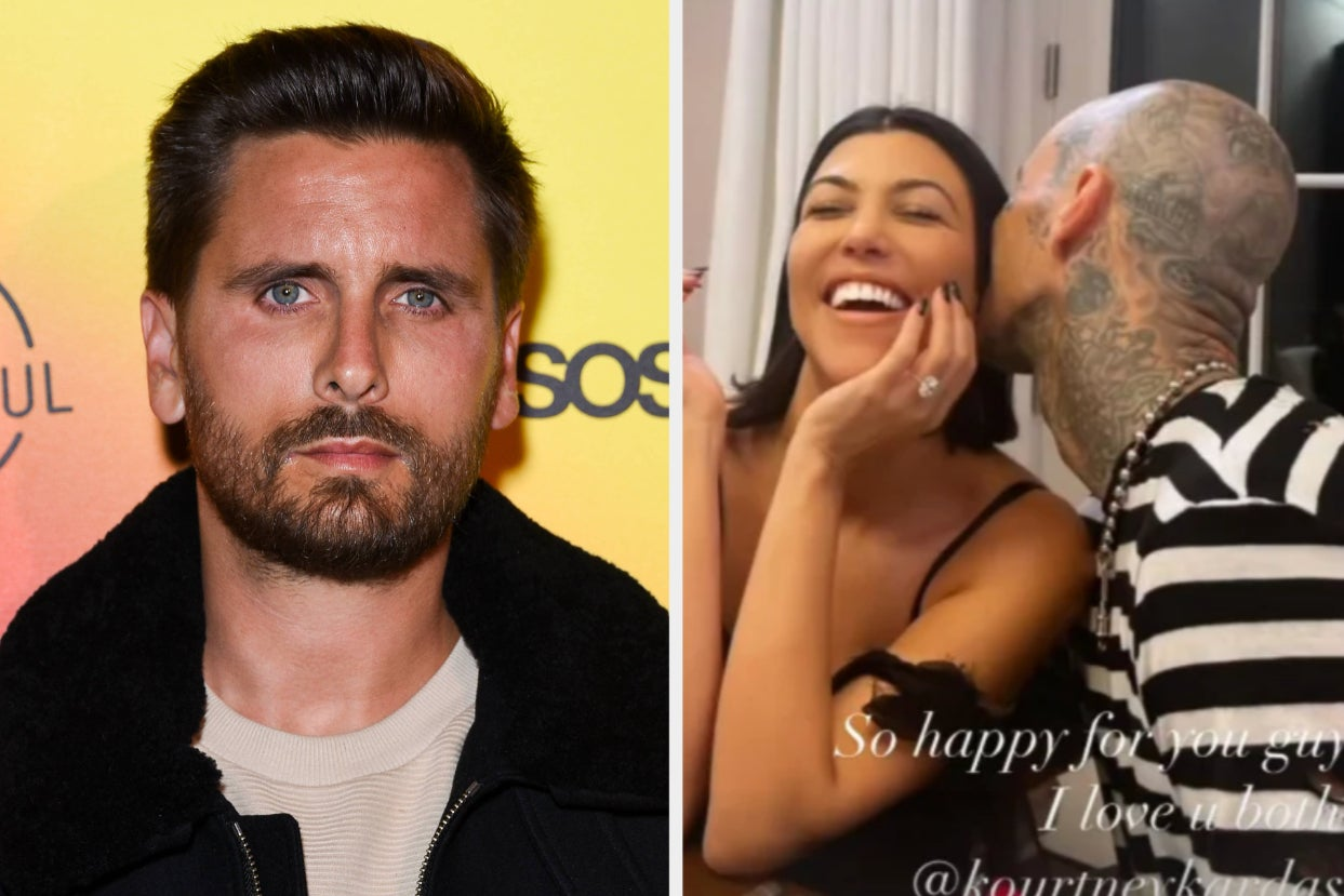 """Scott Disick Broke His Instagram Silence Amid Reports That He's """"Very Jealous"""" And """"Not Happy At All"""" About Kourtney Kardashian And Travis Barker's Engagement"""