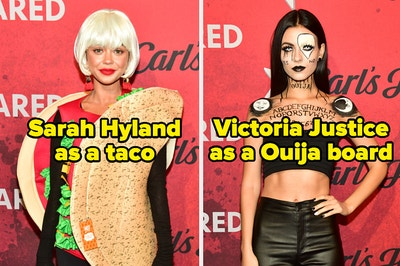 Sarah Hyland as a taco and Victoria Justice as a Ouija board