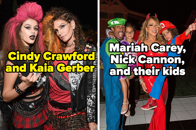 50 Times Famous Families Came Together For A Group Costume And Looked Amazing While Doing So