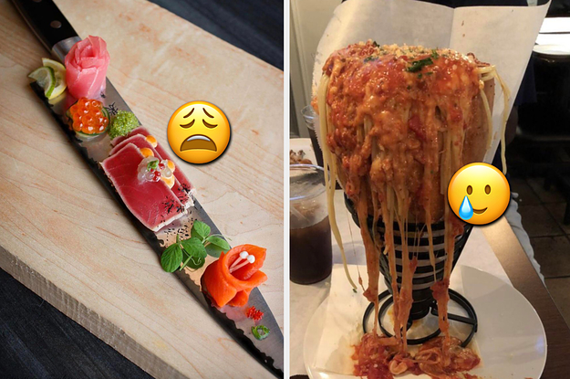 """43 Restaurants That Said """"Plates Are Overrated"""" And Got A Little Too Creative With How They Served Their Food"""