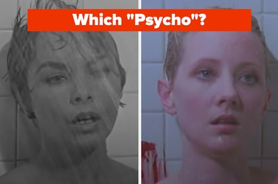 """Two women are in the shower looking hysterical with """"Which """"Psycho""""? written above them"""