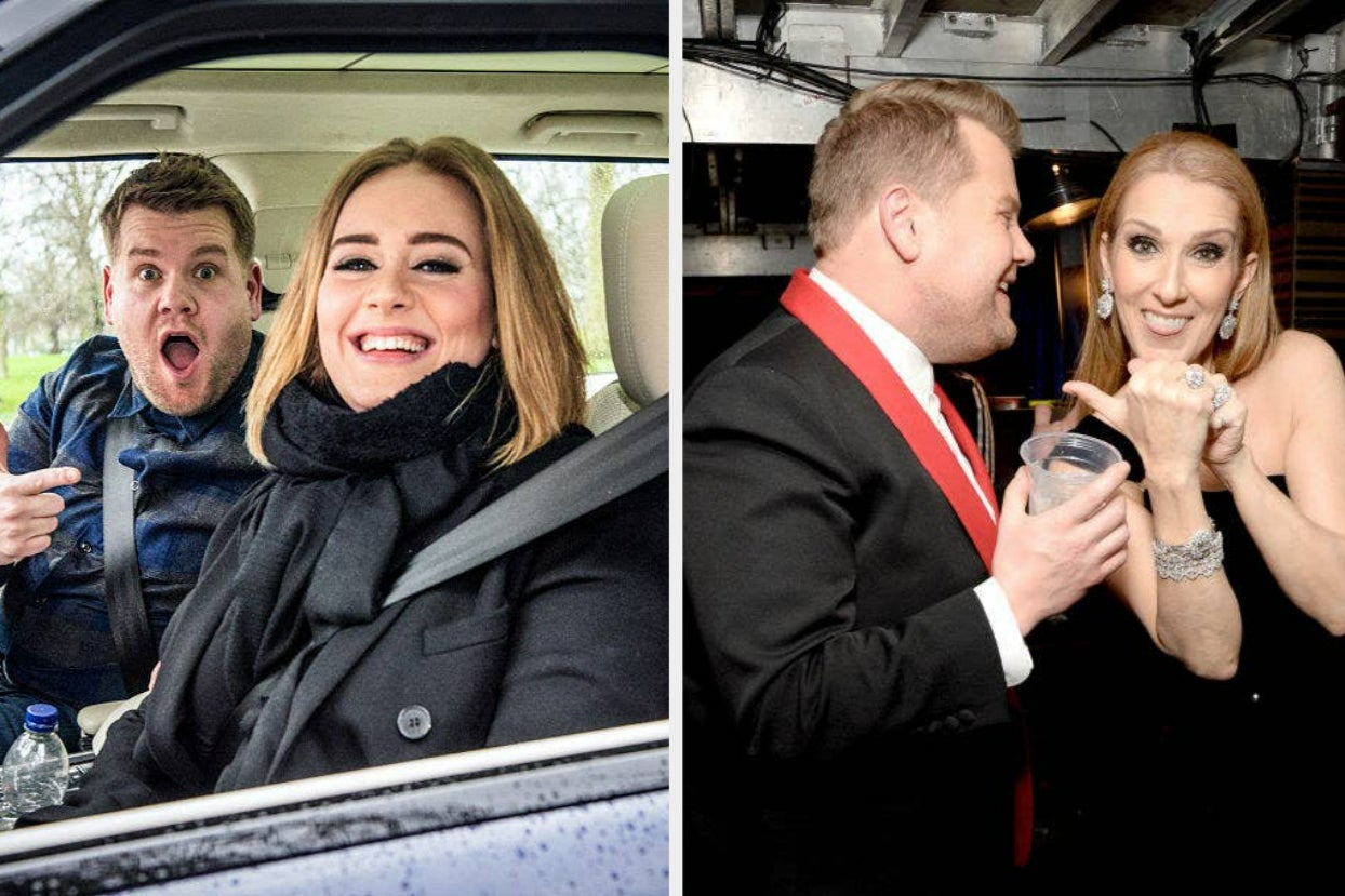 James Corden Explained Why He Gave Adele Céline Dion's Chewed Gum
