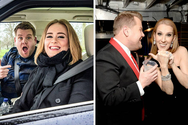 James Corden Gifted Adele A Framed Piece Of Céline Dion's Gum And I Can't Believe What I'm Writing