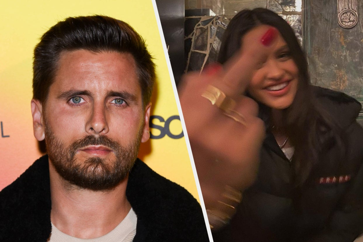 """Amelia Hamlin Gave The Middle Finger On Instagram Days After Scott Disick Was Pictured With Another Woman Amid Reports He's """"Beside Himself"""" Over Kourtney Kardashian And Travis Barker's Engagement"""