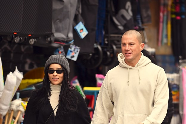Channing Tatum And Zoë Kravitz Adorably Held Hands While Grabbing Lunch Together In New York City