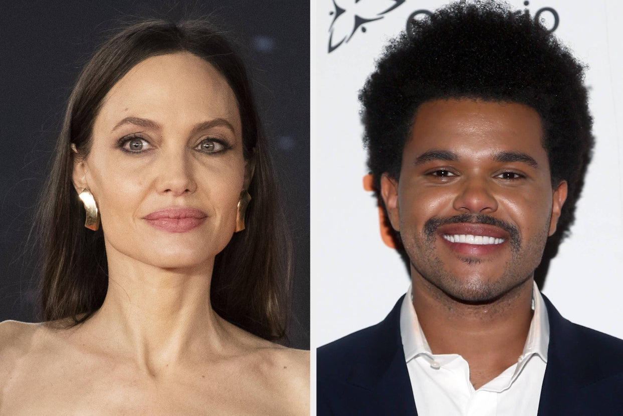 Angelina Jolie Awkwardly Swerved A Probing Question About Her Rumored Relationship With The Weeknd In The Middle Of An Interview After They Were Spotted Having A 2.5-Hour Dinner Together