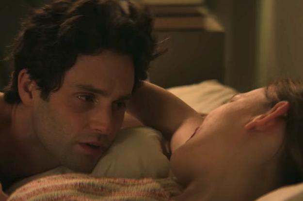 "Victoria Pedretti Said It Felt ""Strange"" To Film ""You"" Season 3 Sex Scenes With Penn Badgley"