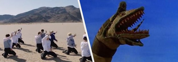"K-Pop music video and a ""Beetlejuice"" sandworm"
