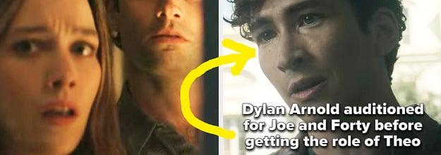Joe, Love, and Theo from You Season 3