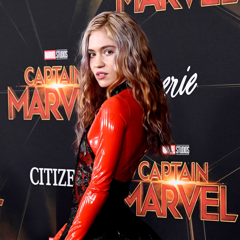 Grimes on the Captain Marvel red carpet
