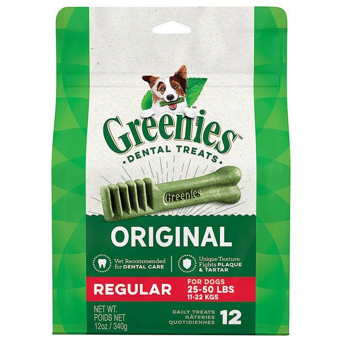 Bag of greenies treats