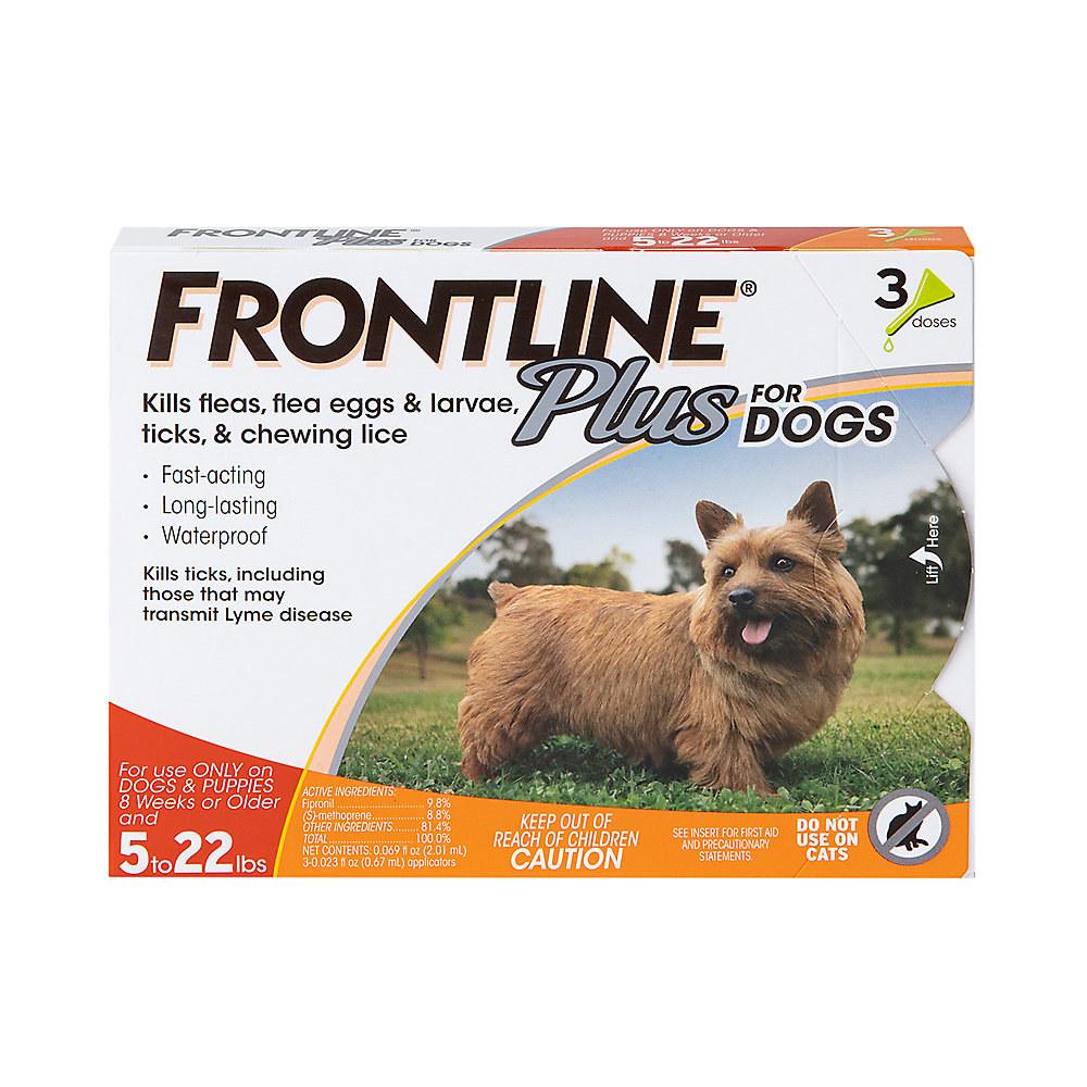 frontline plus dog treatment