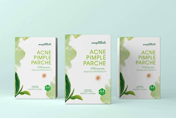 44 parches absorbentes para acné y espinillas