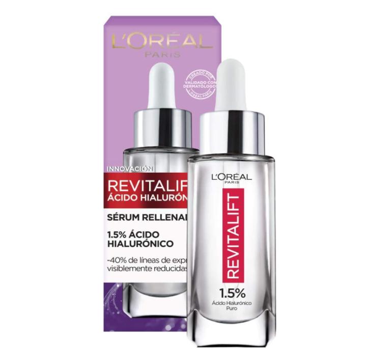Suero facial anti arrugas con ácido hialurónico
