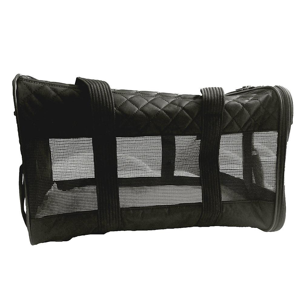 black pet carrier