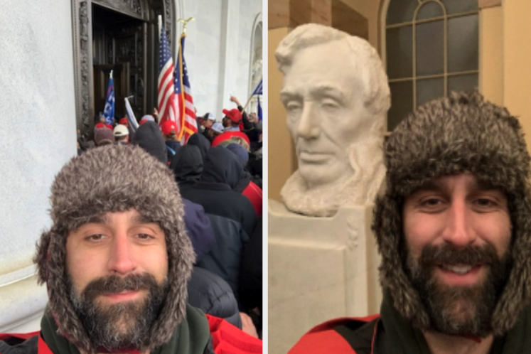 Mazzocco selfies while storming the US capitol