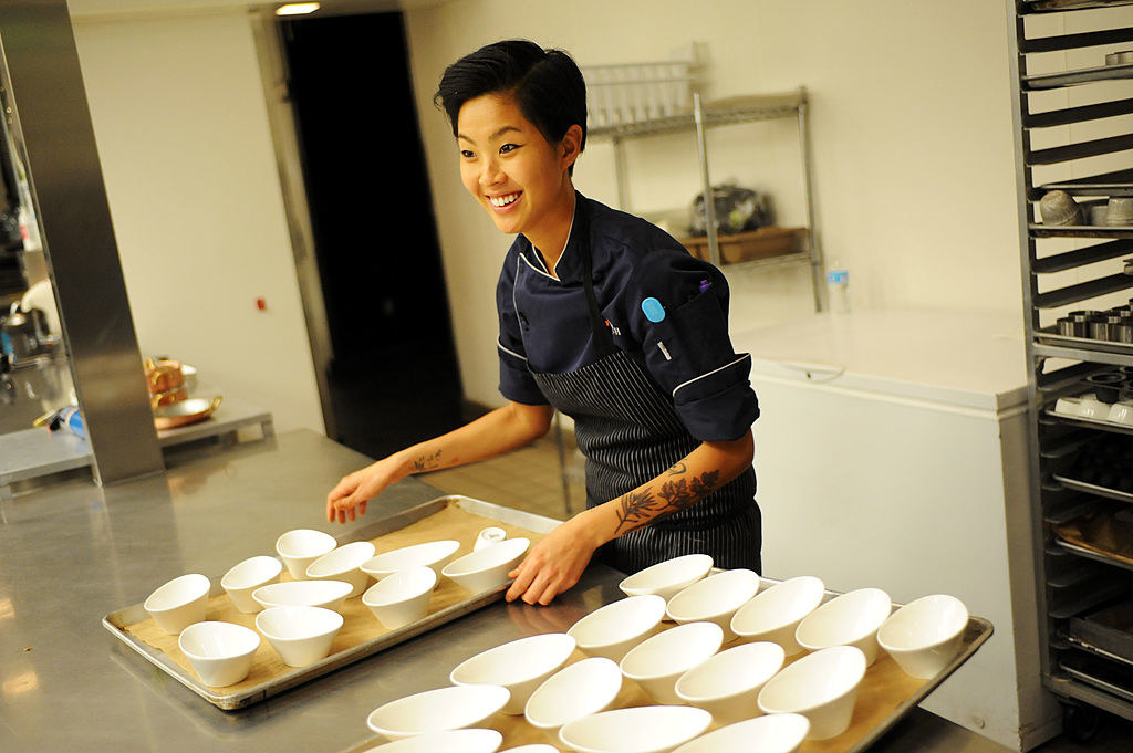 Kristen Kish competing on Top Chef