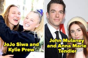 JoJo Siwa and Kylie Prew and John Mulaney and Anna Marie Tendler