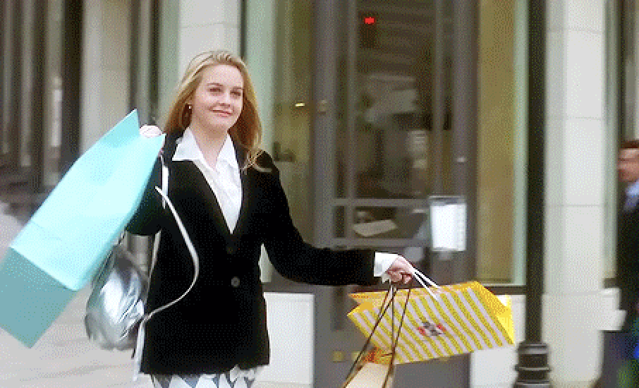 Cher shopping in clueless