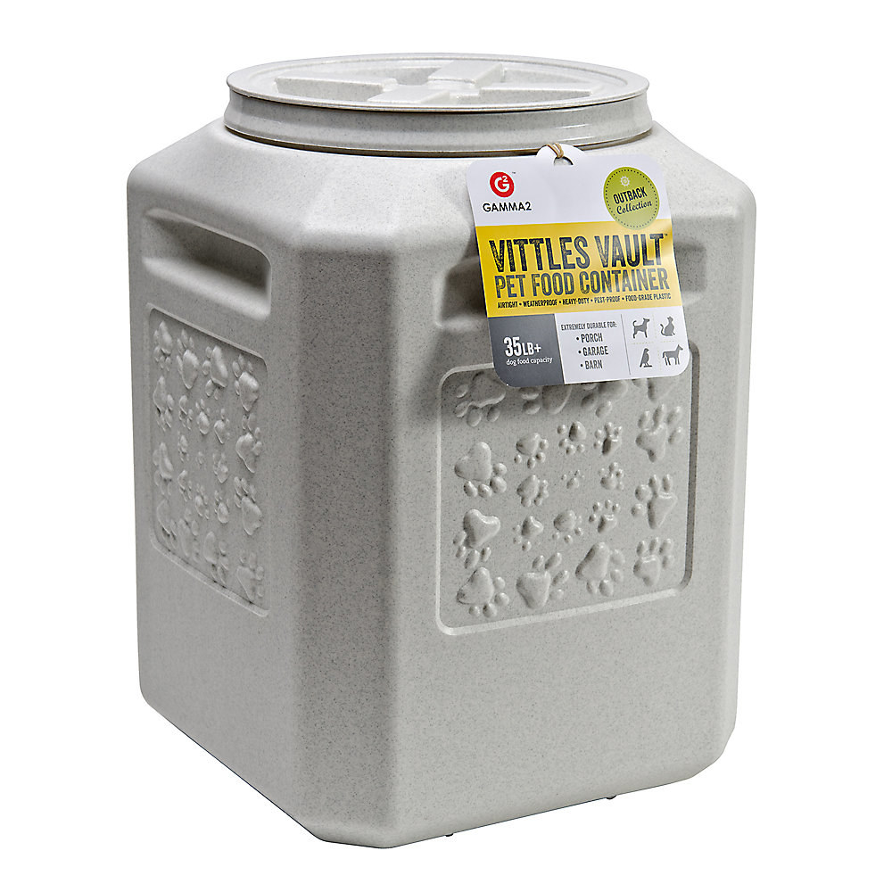 grey pet food container