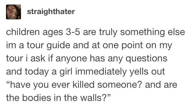 child asks if there are bodies in the wall