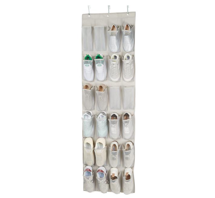 Organizador para 12 pares de zapatos para colgar sobre la puerta