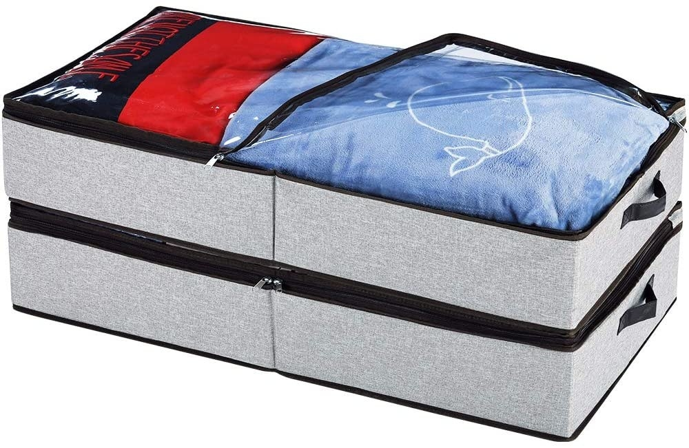 par de organizadores para debajo de la cama