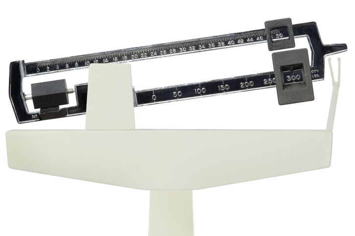 A scale overwhelmed by weight