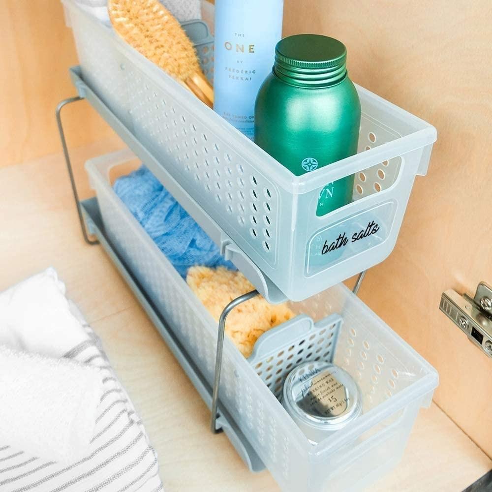 organizador de dos niveles para baño