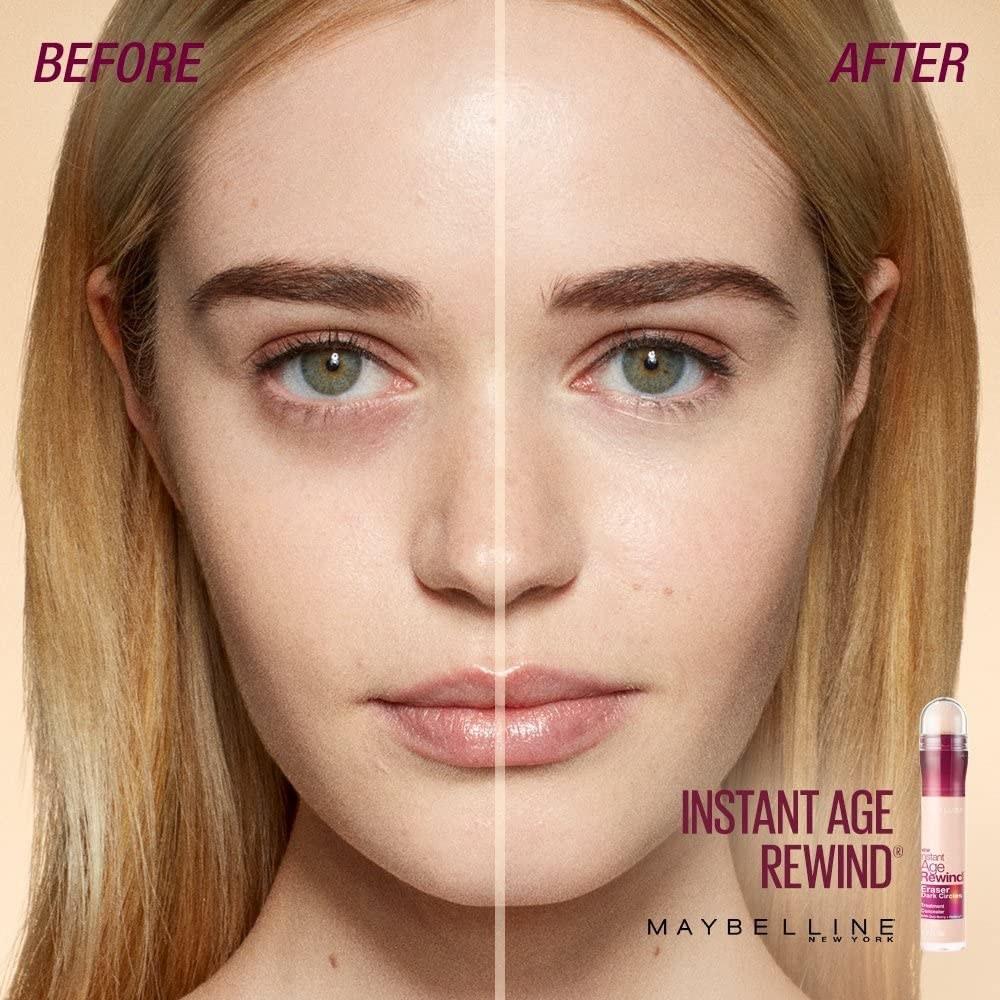 Antes y después de usar corrector facial