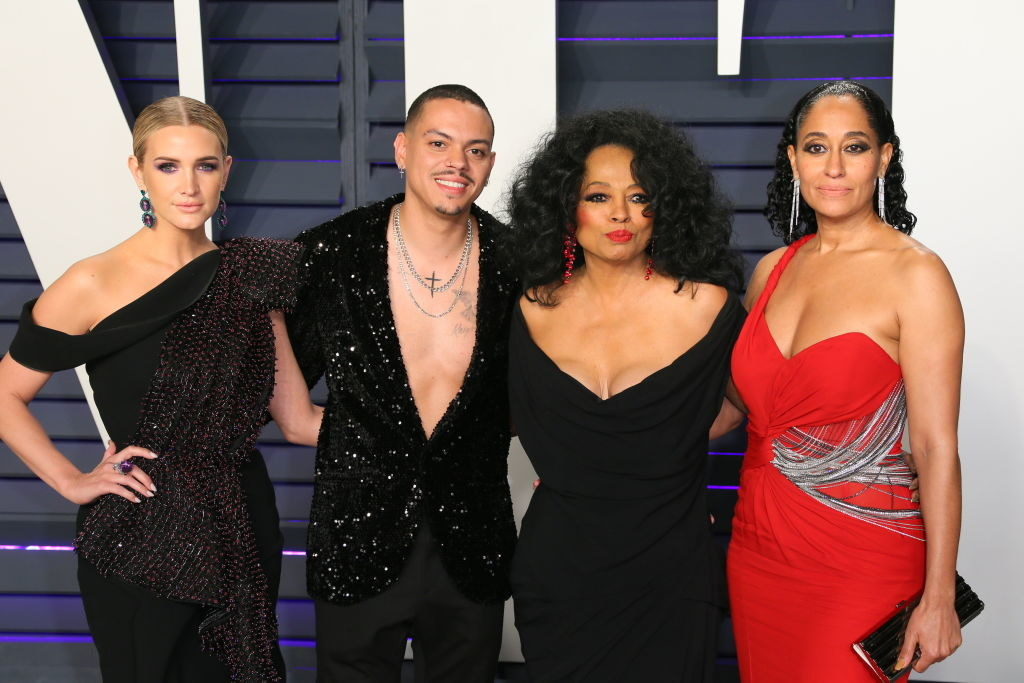 Diana Ross, Evan Ross, and Ashlee Simpson