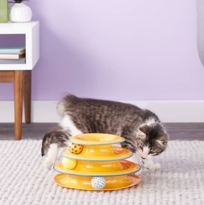An image of a tower of tracks cat toy