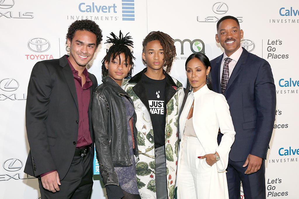 Trey, Willow, Jaden, and Jada Pinkett Smith