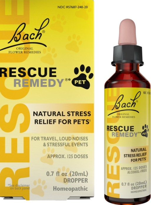 An image of a bottle of a stress relief pet supplement