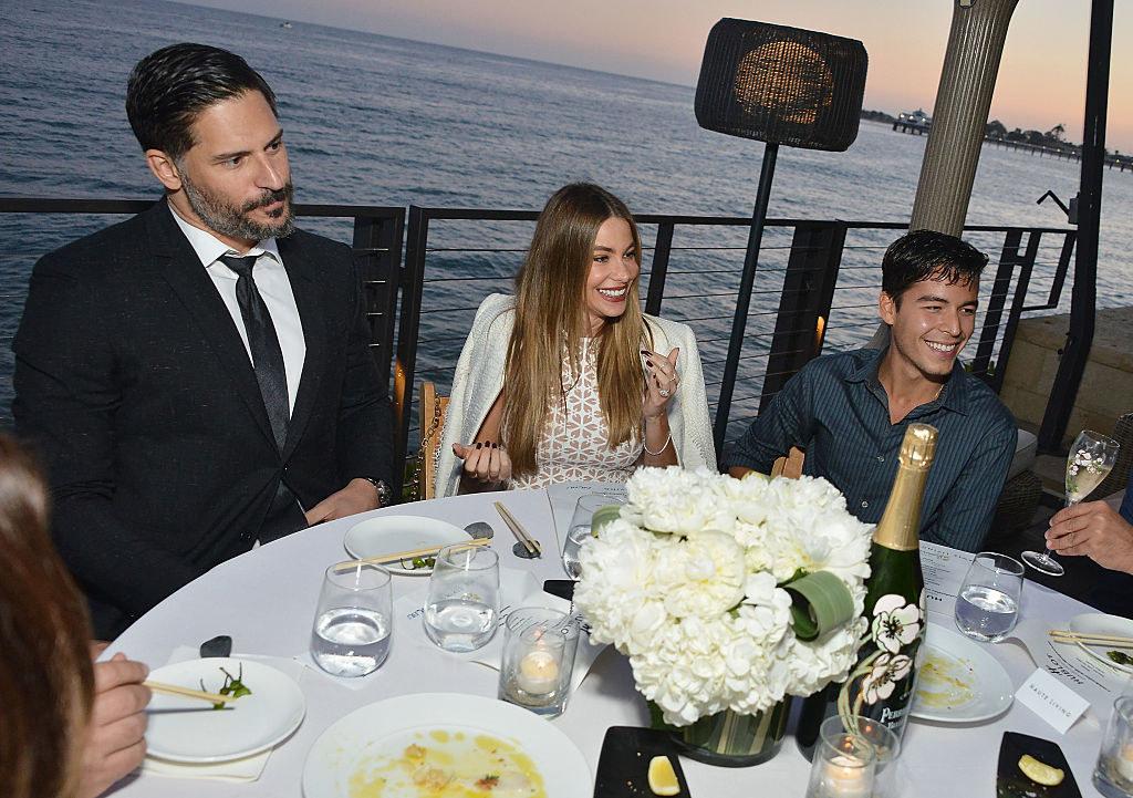 her husband Joe Manganiello and son Manolo Gonzalez