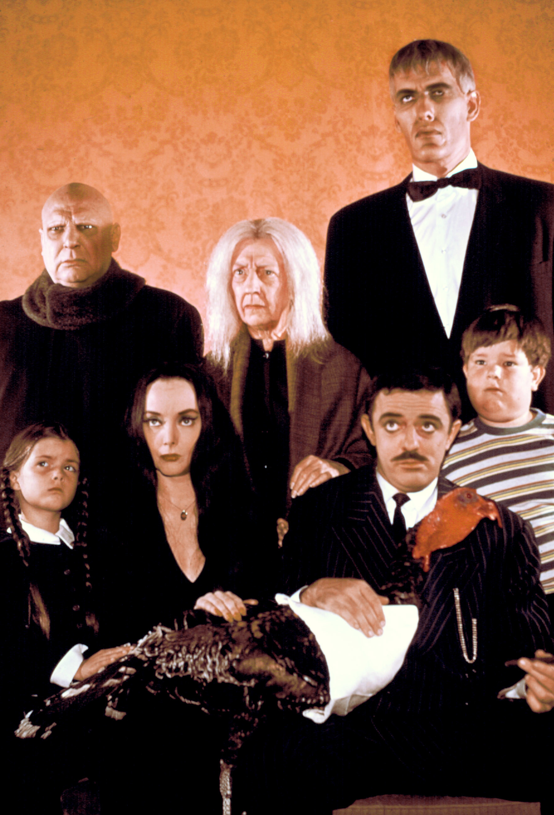 Morticia and her Addams family