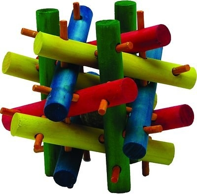 An image of a nut knot nibbler chew toy for small pets