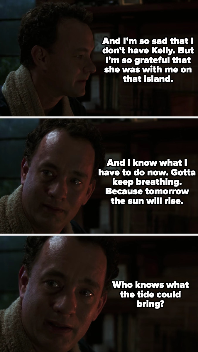 Chuck decides to keep on breathing even in sadness, because who knows what the tide could bring?