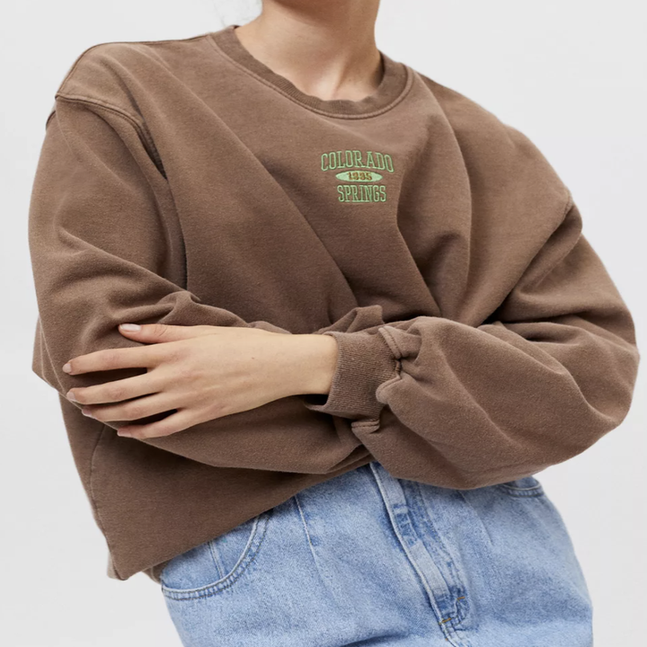 the sweater in brown