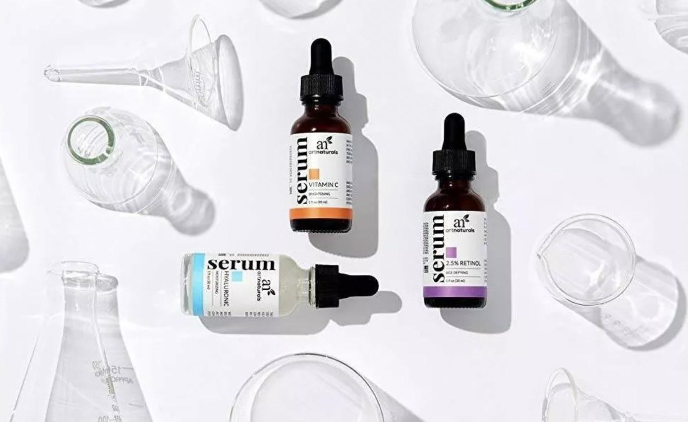 bottles of the serum