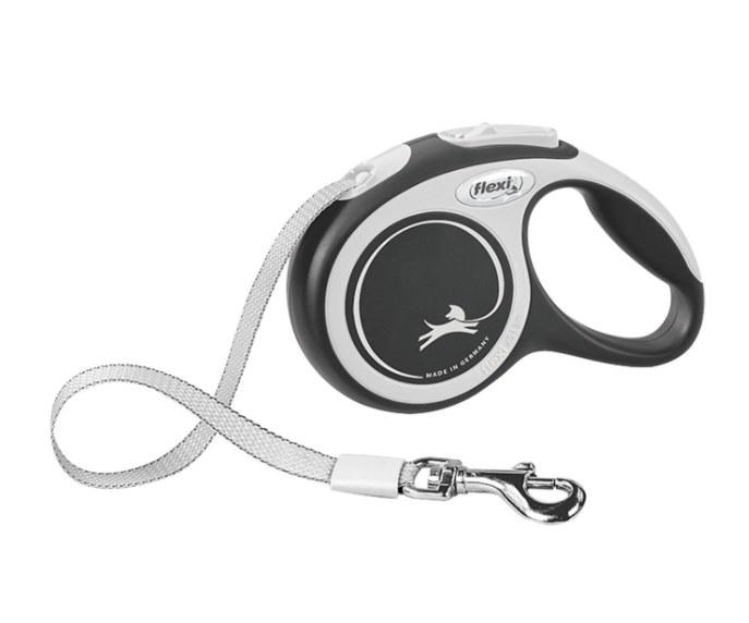 A retractable dog leash