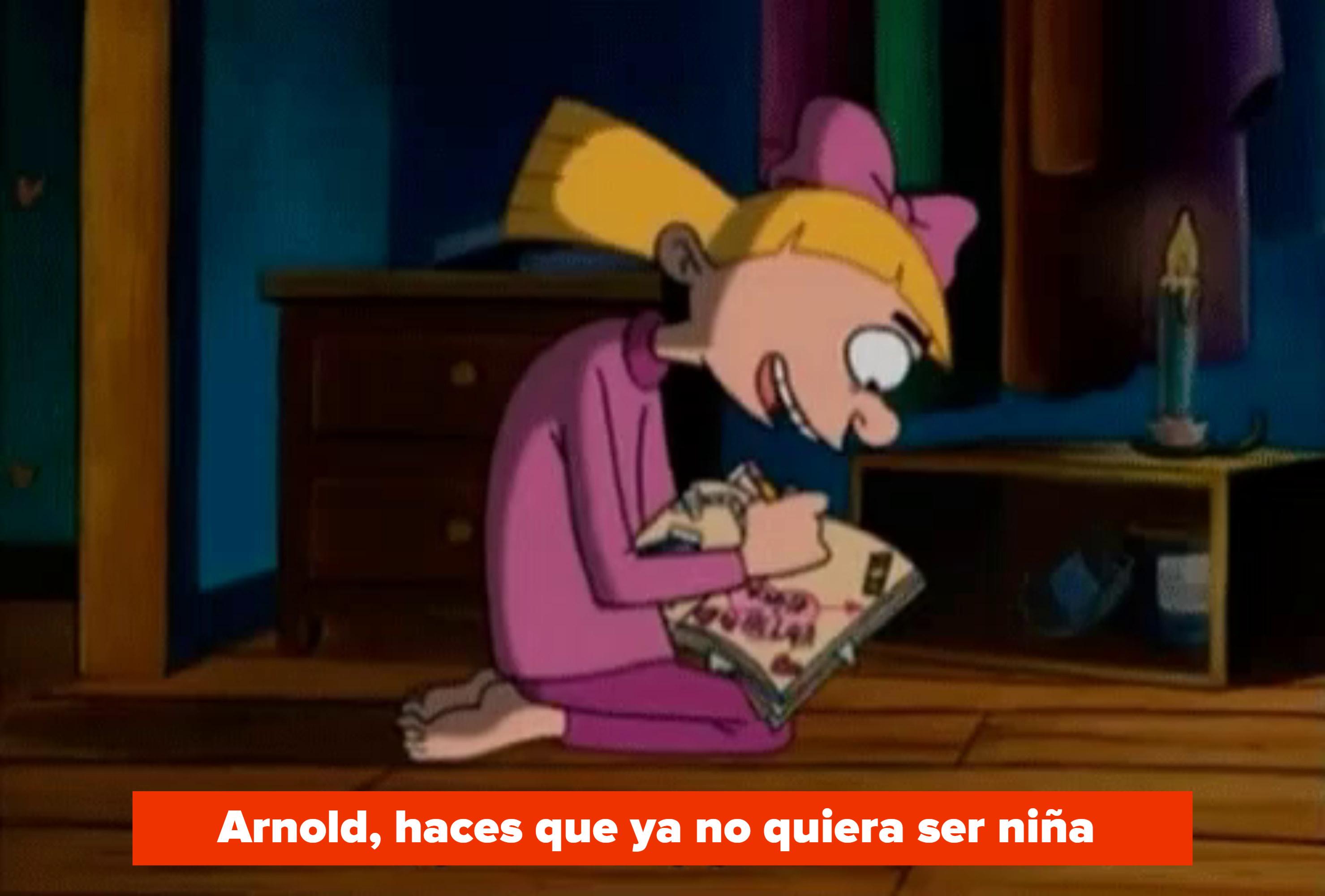 """Helga says, """"Arnold, you make my girlhood tremble"""""""