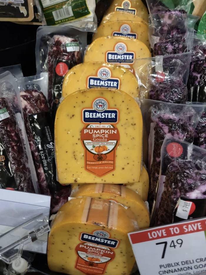 Pumpkin spice gouda cheese