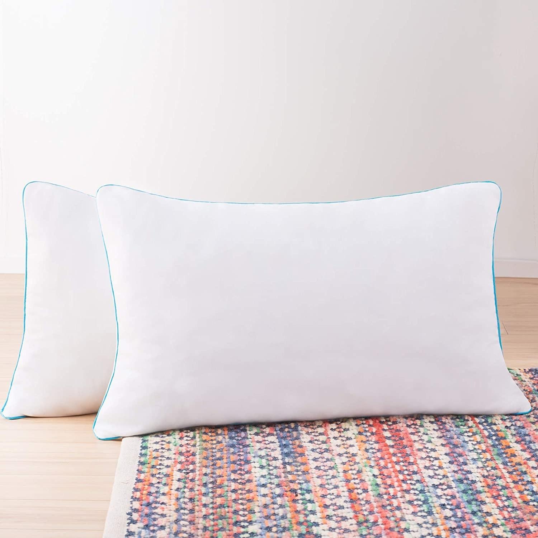 Paquete de dos almohadas de espuma de memoria triturada