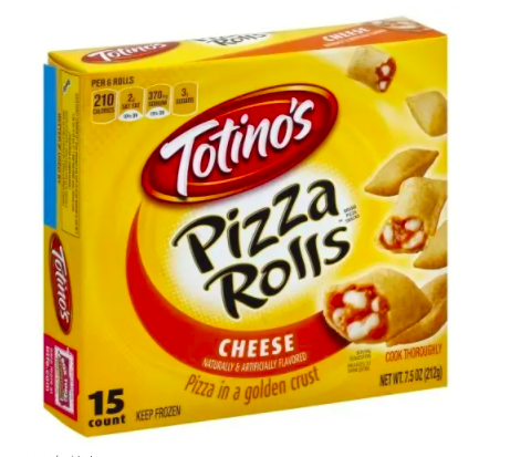 a box of pizza rolls